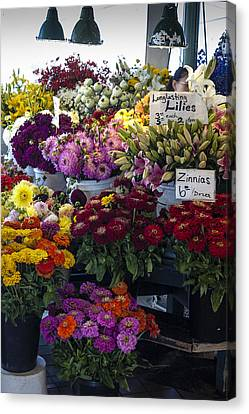 Flower Market Canvas Print by Wayne Meyer