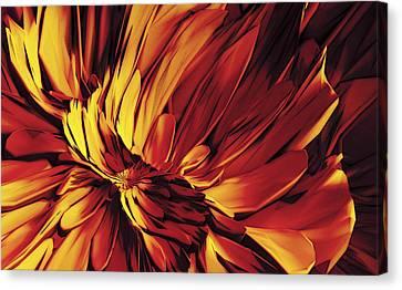 Canvas Print featuring the digital art Flower by Matt Lindley