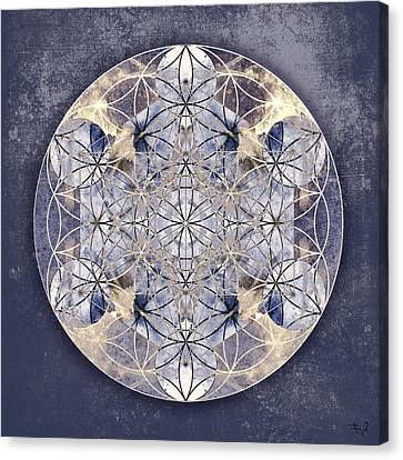 Yantra Canvas Print - Flower Of Enlightenment by Filippo B