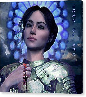 Joan Of Arc Flower Of France Canvas Print