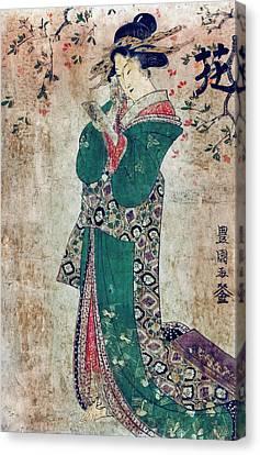 Flower Of Japan C. 1804 Canvas Print by Daniel Hagerman