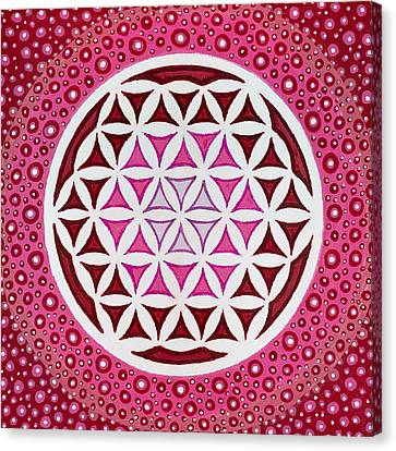 Flower Of Life Canvas Print by Christopher Sheehan