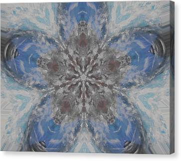 Flower Of Life Canvas Print by Erica  Darknell