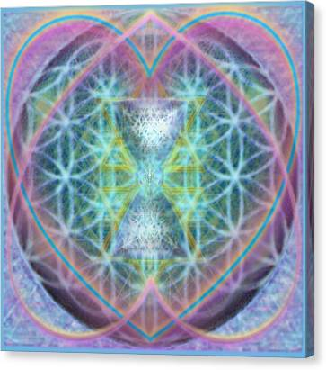 Flower Of Life Forested Chalice In Passion Brights Canvas Print by Christopher Pringer