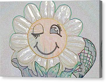 Flower Of The Balloon Festival Canvas Print