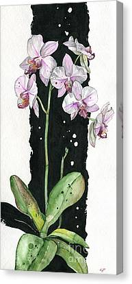 Canvas Print featuring the painting Flower Orchid 02 Elena Yakubovich by Elena Yakubovich