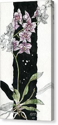 Canvas Print featuring the painting Flower Orchid 04 Elena Yakubovich by Elena Yakubovich