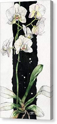 Canvas Print featuring the painting Flower Orchid 05 Elena Yakubovich by Elena Yakubovich