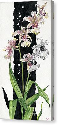 Canvas Print featuring the painting Flower Orchid 06 Elena Yakubovich by Elena Yakubovich