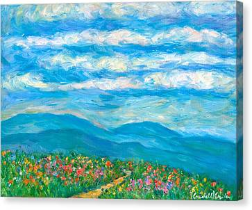 Flower Path To The Blue Ridge Canvas Print by Kendall Kessler