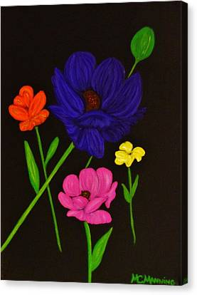 Flower Play Canvas Print by Celeste Manning