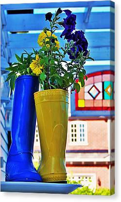 Canvas Print featuring the photograph Flower Pots... by Al Fritz