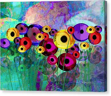Flower Power Abstract Art  Canvas Print