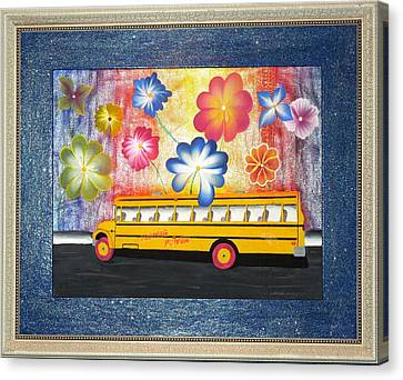 Canvas Print featuring the painting Flower Power by Ron Davidson