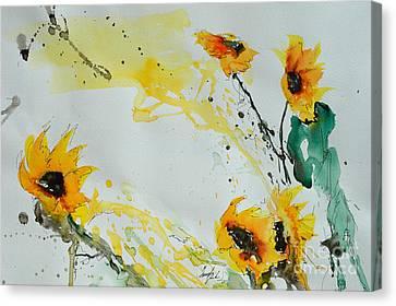 Flower Power- Sunflower Canvas Print by Ismeta Gruenwald