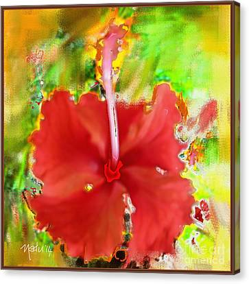 Flower Red Canvas Print by Nedunseralathan R