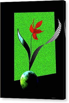 Canvas Print featuring the digital art Flower Show by Asok Mukhopadhyay