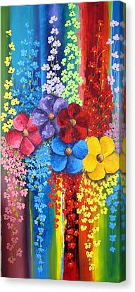 Flower Shower Canvas Print