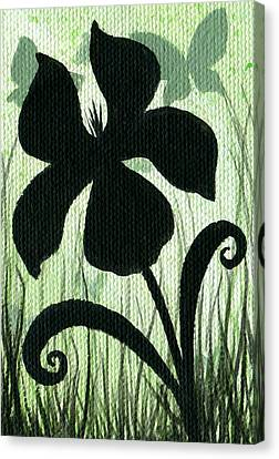 Flower Silhouette 10 Canvas Print by Elaina  Wagner
