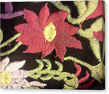 Homemade Quilts Canvas Print - Flower Stich by Ismael Lopez