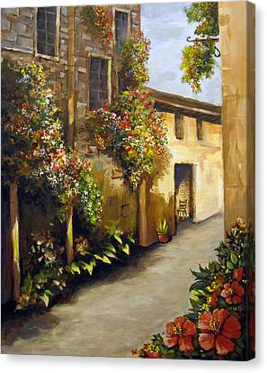 Canvas Print featuring the painting Flower Street by Carol Hart