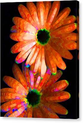 Flower Study 5 - Vibrant Orange By Sharon Cummings Canvas Print by Sharon Cummings