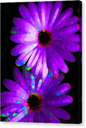 Flower Study 6 - Vibrant Purple By Sharon Cummings Canvas Print by Sharon Cummings