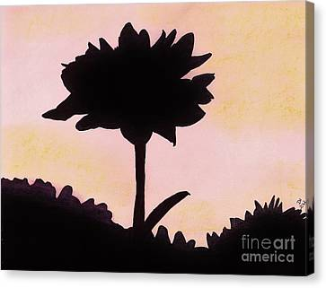 Canvas Print featuring the drawing Flower - Sunrise by D Hackett