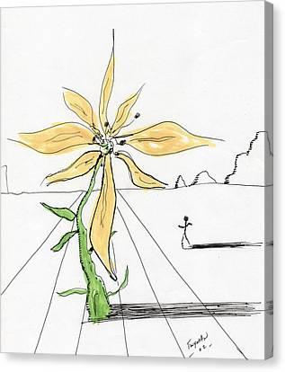 Flower Surrealiste Canvas Print by Dan Twyman
