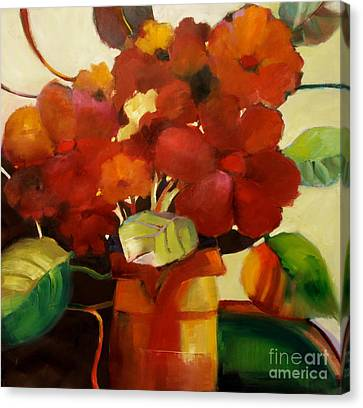 Flower Vase No. 3 Canvas Print by Michelle Abrams