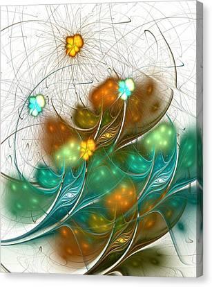 Surreal Canvas Print - Flower Wind by Anastasiya Malakhova
