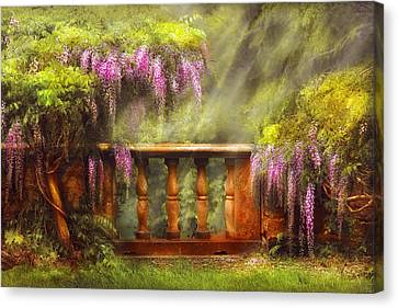 Personalized Canvas Print - Flower - Wisteria - A Lovers View by Mike Savad