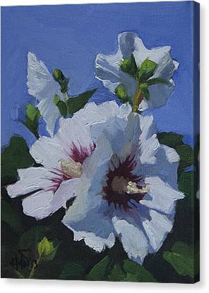 Canvas Print featuring the painting Flower_04 by Helal Uddin