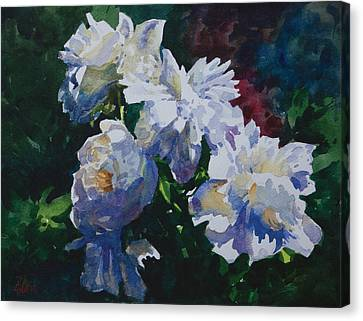 Canvas Print featuring the painting Flower_06 by Helal Uddin