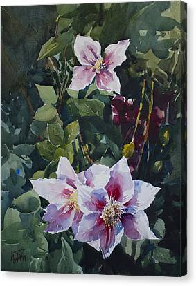 Canvas Print featuring the painting Flower_07 by Helal Uddin