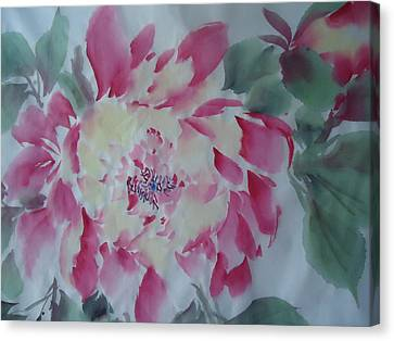 Canvas Print featuring the painting Flower0814 by Dongling Sun