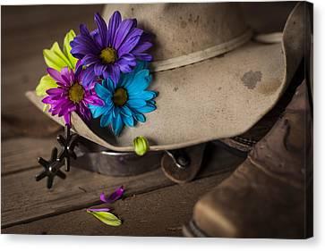 Flowered Hat Canvas Print by Amber Kresge