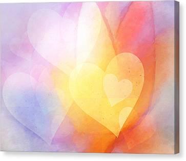 Flowerhearts Canvas Print
