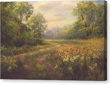 Flowering Field Canvas Print