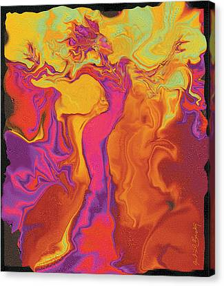 Flowerishing Dancer Canvas Print