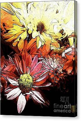 Flowerpower Canvas Print by Susan Townsend