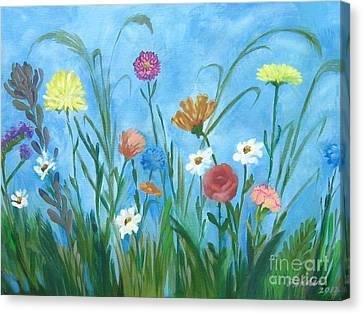 Flowers All Around Canvas Print