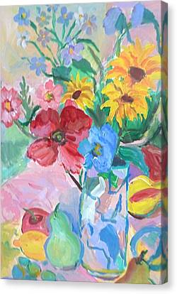 Flowers And Fruits Canvas Print by Brenda Ruark
