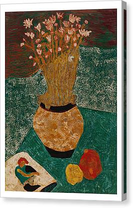 Flowers And Passion Fruit Canvas Print