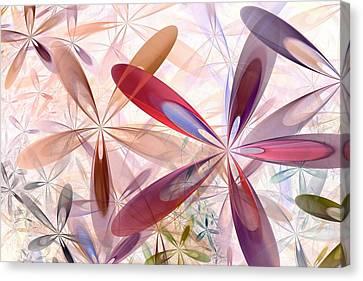 Red Abstract Canvas Print - Flowers Around Me by Anastasiya Malakhova