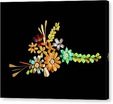 Flowers Created From Butterfly Scales Canvas Print by Steve Lowry