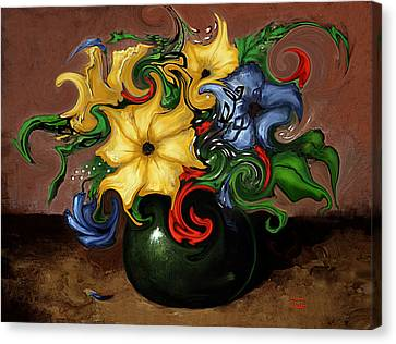 Canvas Print featuring the painting Flowers Dancing by Terry Webb Harshman