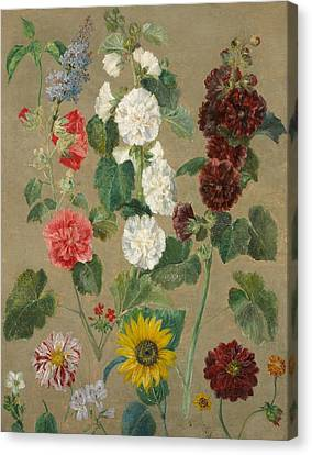 Flowers Canvas Print by Ferdinand Victor Eugene Delacroix