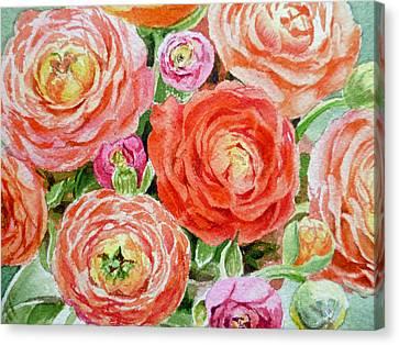 Flowers Flowers Flowers Canvas Print by Irina Sztukowski