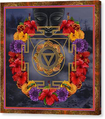Hindu Goddess Canvas Print - Flowers For Kali Ma by Nadean OBrien